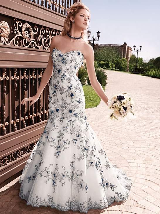 Bridal trend alert colorful wedding dresses blog for Casablanca lace wedding dress