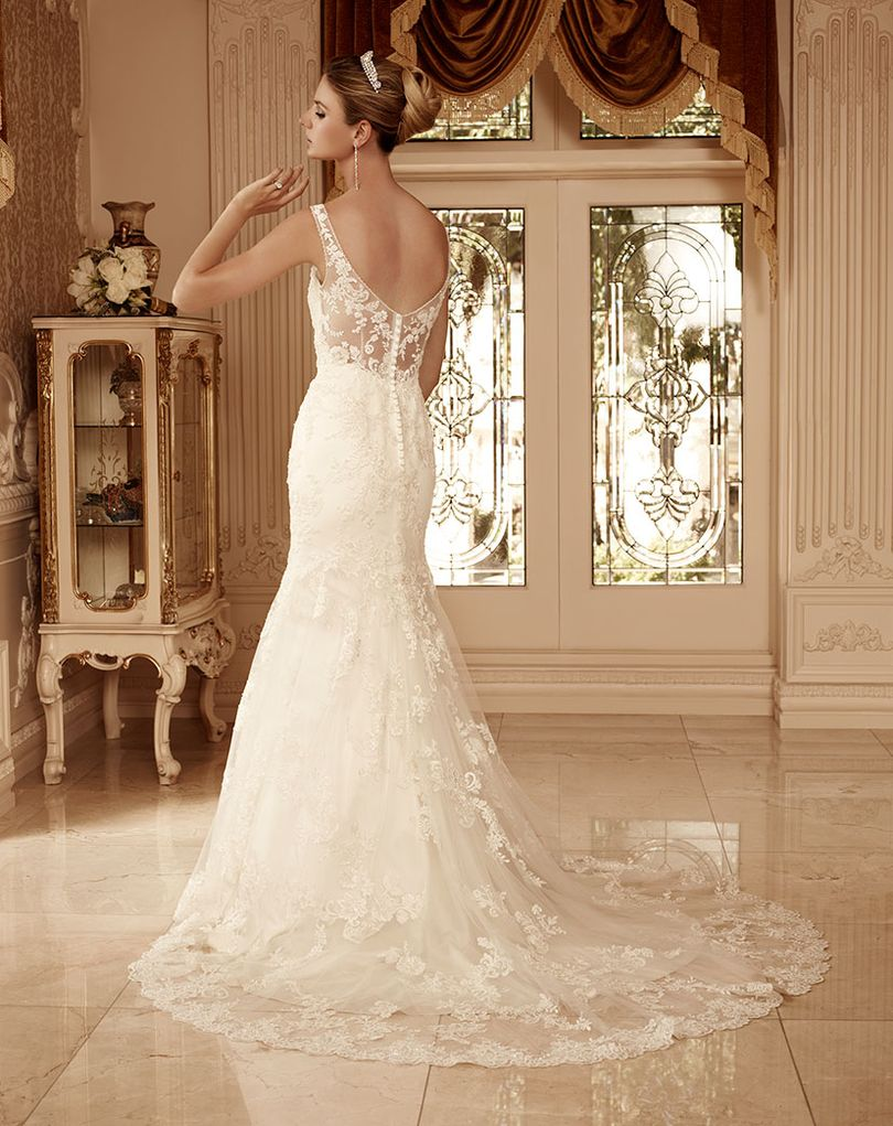 Style 2099 casablanca bridal for Casablanca lace wedding dress