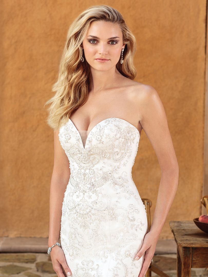 K'Mich Weddings - wedding dress Casablanca Bridal - villa del sol without the sheer beaded cape