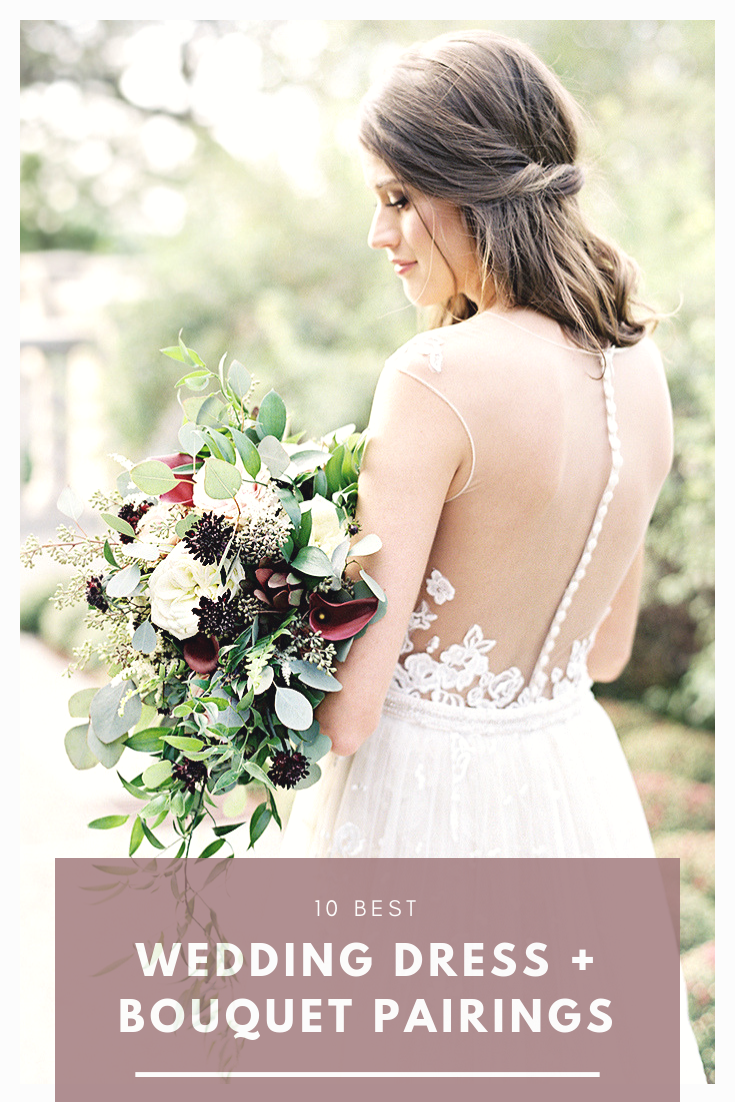 Top 10 Best Wedding Dress and Bridal Bouquet Pairings by Casablanca Bridal