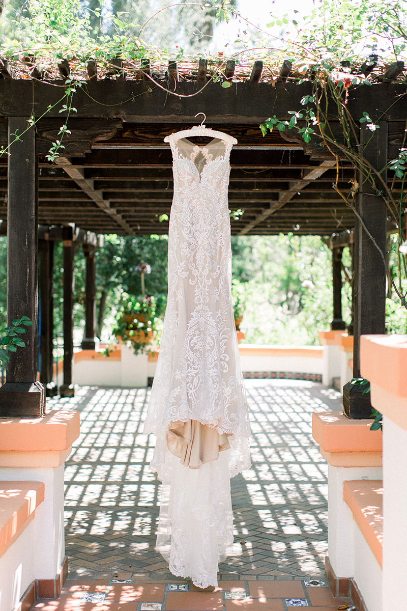 Bright and Floral Outdoor Wedding: Style 2328 by Casablanca Bridal | Bohemian Lace Wedding Dress