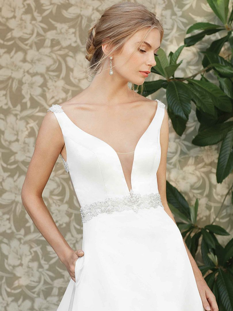821b67910c Top 10 Satin Wedding Dresses under $1,500 by Casablanca Bridal ...