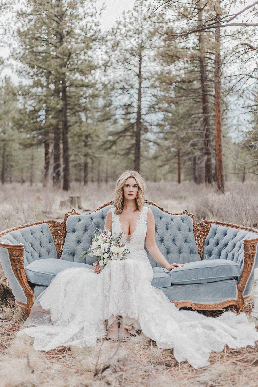 Forest Rustic Wedding Styled Shoot: Vintage Wedding Inspiration / Blog /  Casablanca Bridal