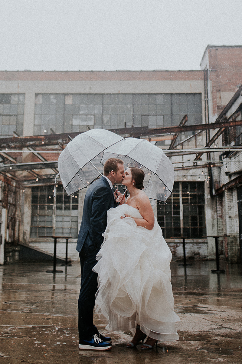 Rainy Day City Wedding In Style 2174 by Casablanca Bridal | Strapless Ruffle Skirt Wedding Dress