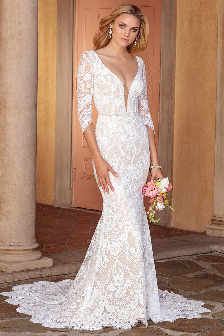 Top 8 Long Sleeve Wedding Dresses by Casablanca Bridal