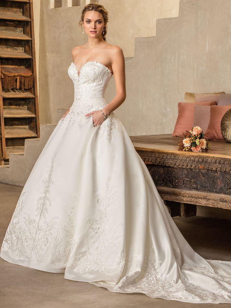 Top 10 Satin Wedding Dresses under $1,500 by Casablanca Bridal ...