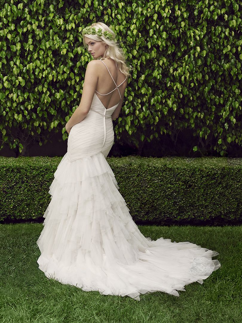 Bling Mermaid Style Wedding Dresses with Top