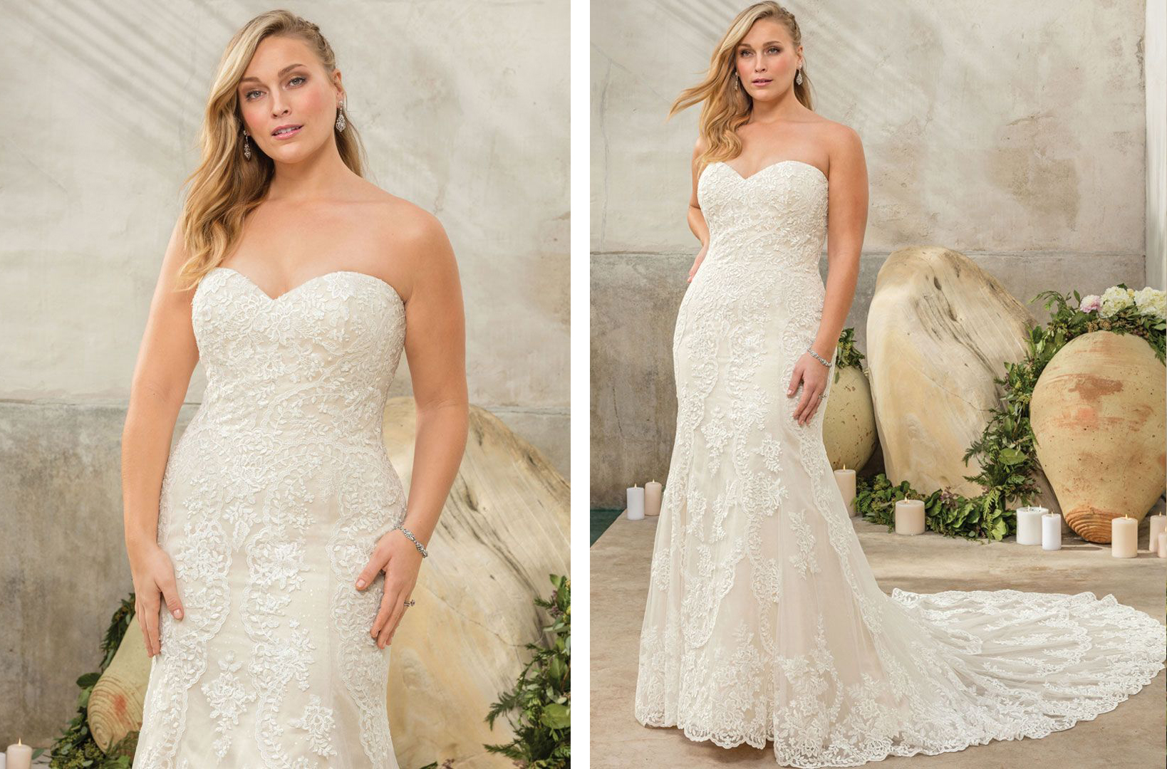 Top Plus Size Wedding Dresses under $1,500 by Casablanca ...