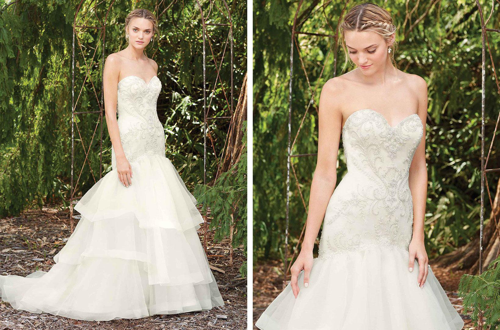 Mermaid Ruffle Wedding Dress