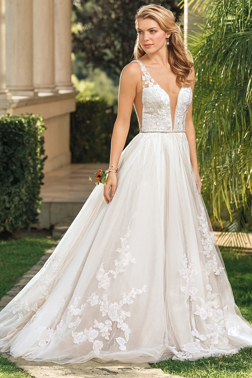 Top 6 Plunging V-Neckline Wedding Dresses by Casablanca Bridal | Style 2348 Bria