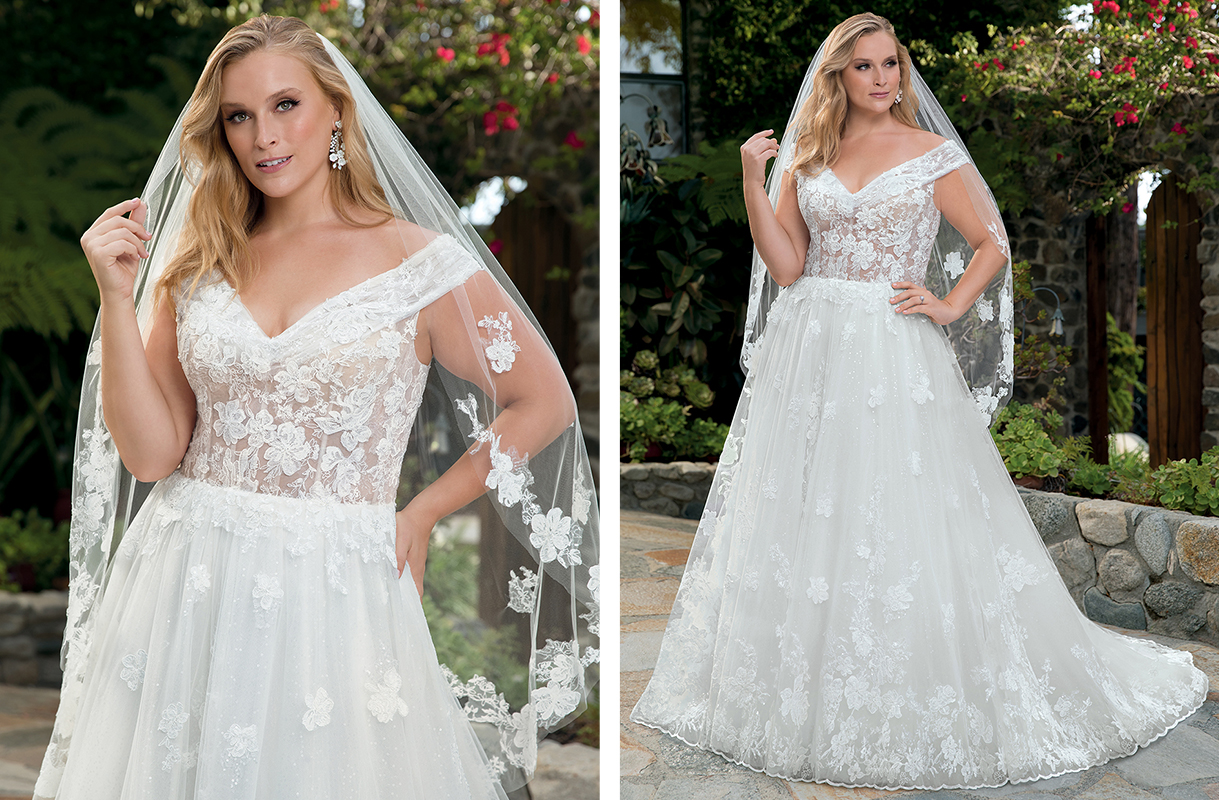 Top 4 Sparkle Skirt Ballgown Wedding Dresses by Casablanca Bridal