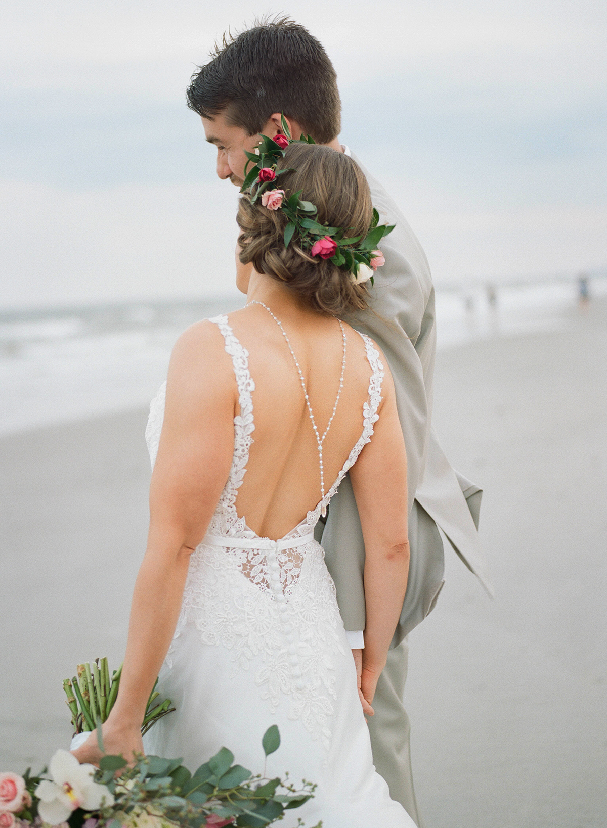 Top 4 Beach Wedding Dresses for an Oceanside Ceremony by Casablanca Bridal | Style 2210 Fit and Flare Silky Charmeuse Simple Wedding Dress