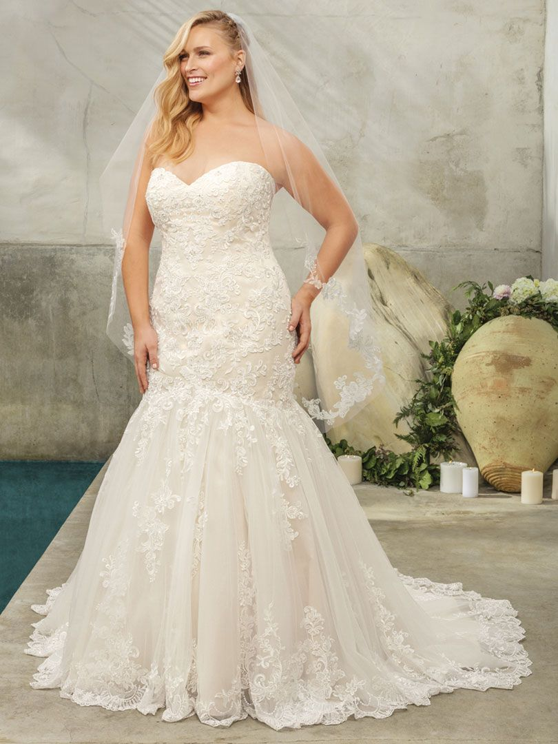 Romantic Floral Fit and Flare Wedding Gown / Blog ...