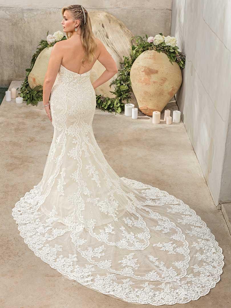 Lace Wedding Dress with Royal Length Train | Casablanca Bridal ...