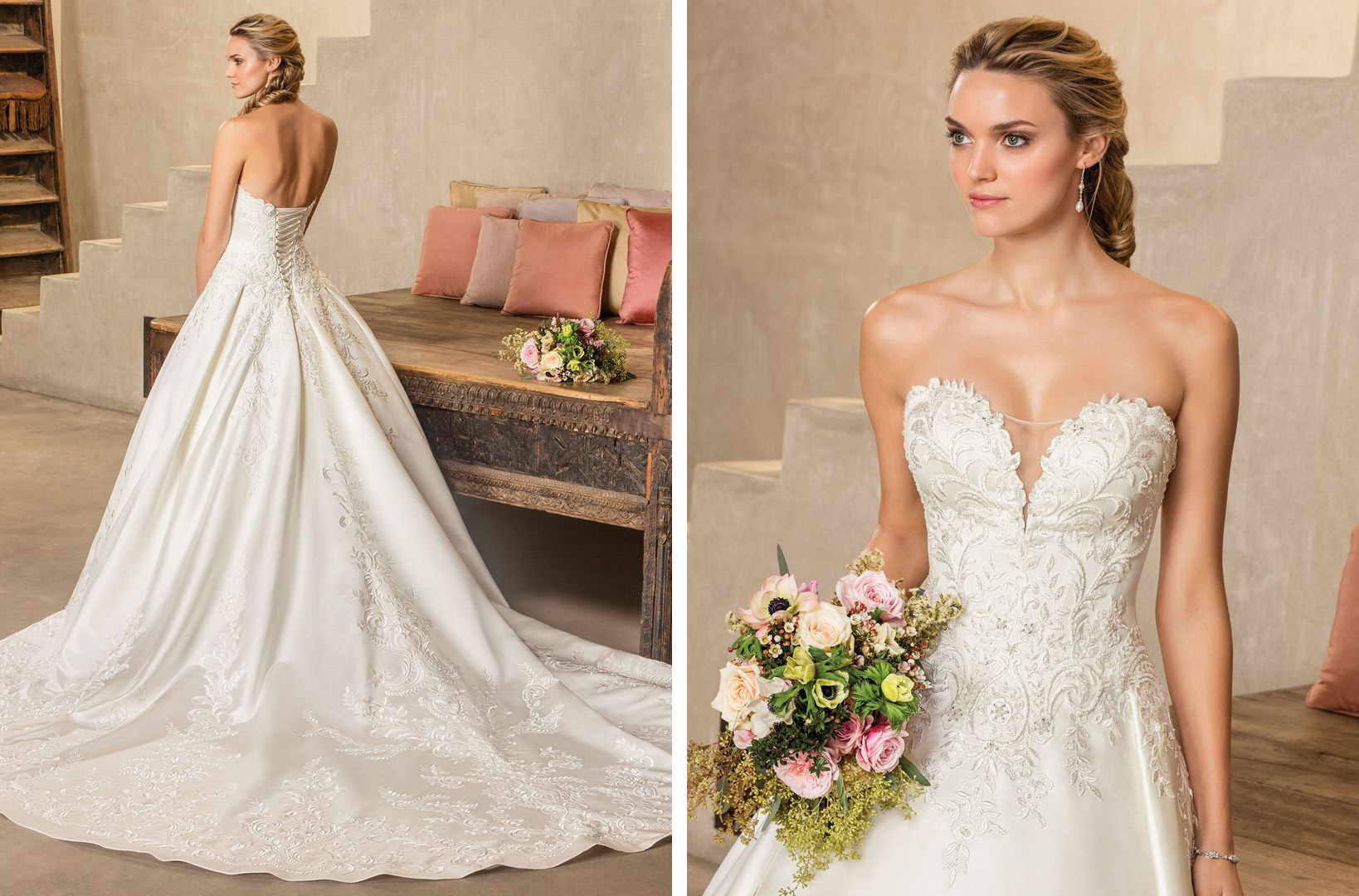 c2c605693ee Top 10 Satin Wedding Dresses under  1