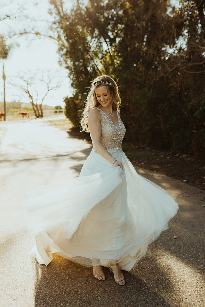 Casablanca Custom Wedding Dress: Style 2315 + Style 2310 | Custom Beaded Wedding Dress with Soft Tulle Skirt by Casablanca Bridal