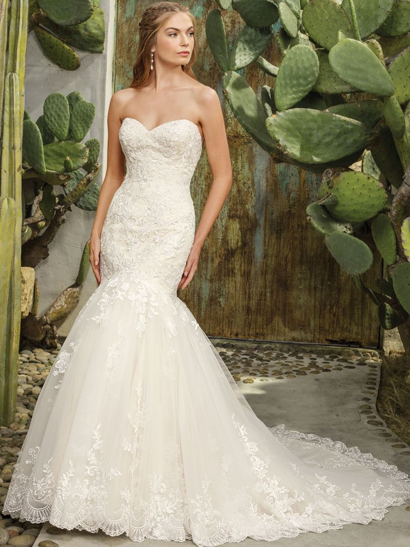 Romantic Floral Fit and Flare Wedding Gown / Blog / Casablanca Bridal