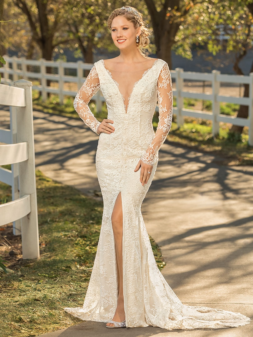 Top 6 Plunging V-Neckline Wedding Dresses by Casablanca Bridal | Style BL280 Britta by Beloved