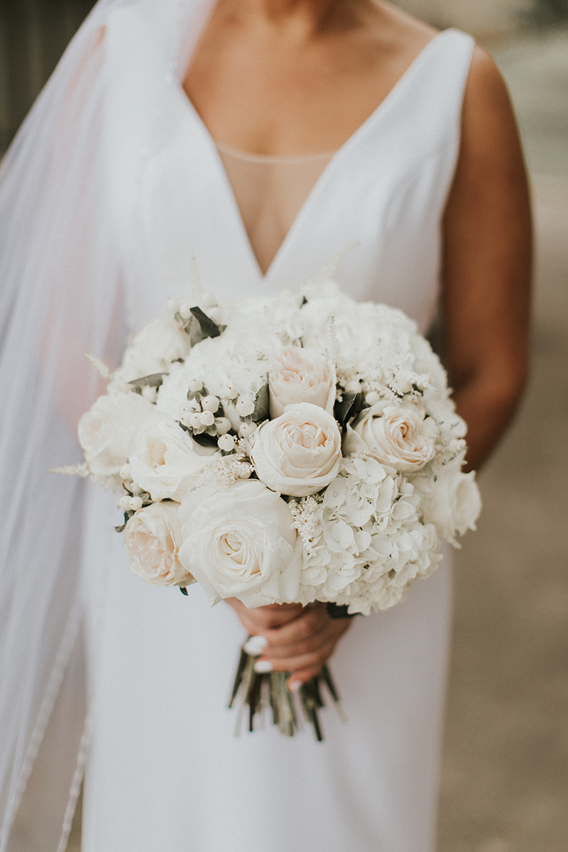 All-White Bridal Bouquet + Style 2268 | Top 10 Best Wedding Dress and Bridal Bouquet Pairings by Casablanca Bridal
