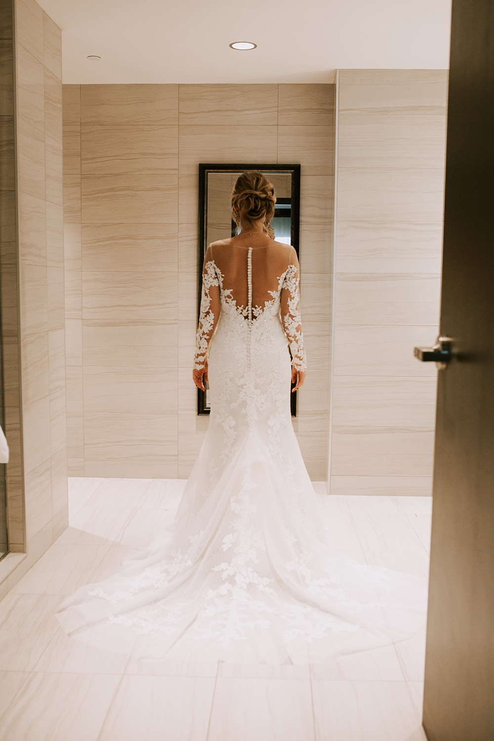 Casablanca Bridal | Style 2270 Wisteria Long Illusion Lace Sleeves | Elegant Gatsby Themed Wedding