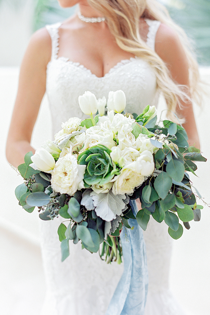 A Hint Of Succulents + Style 2256 | Top 10 Best Wedding Dress and Bridal Bouquet Pairings by Casablanca Bridal