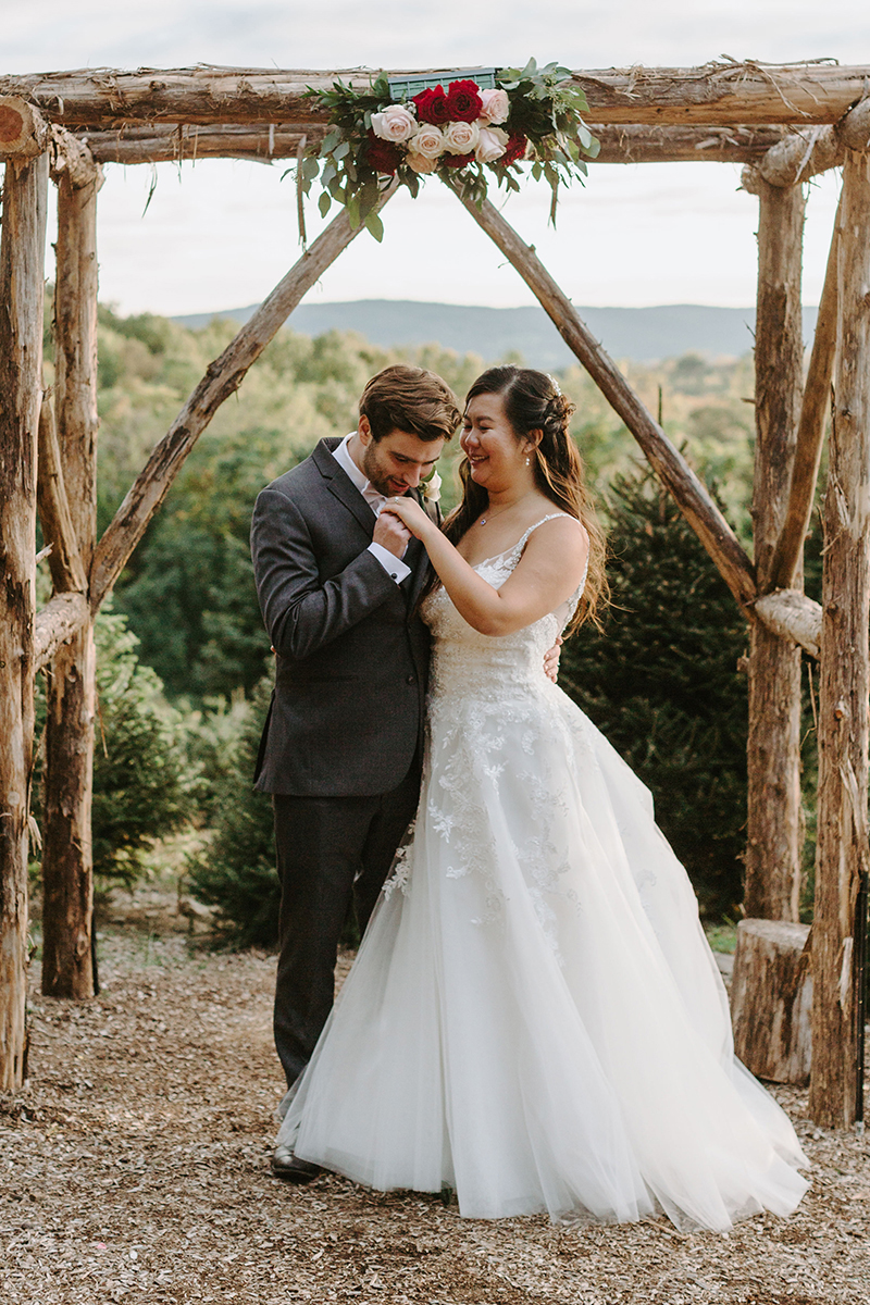 Casablanca Bridal Real Bride: Grace & Michael's Fairy Tale Woods Wedding in Style 2248 | Lace Ballgown Wedding Dress