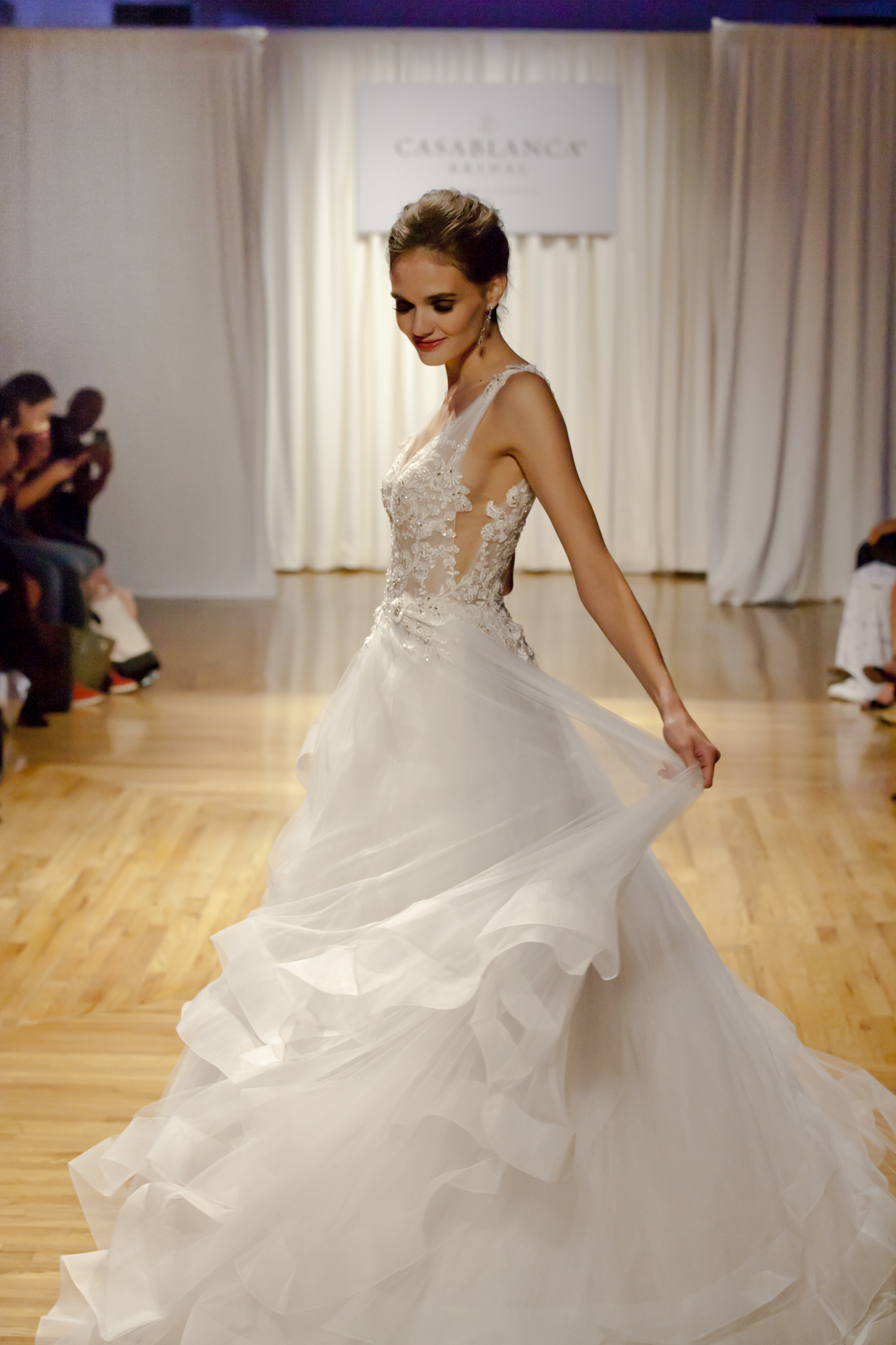 Casablanca Bridal Press Show Wedding Dress With Lace Bodice Preview