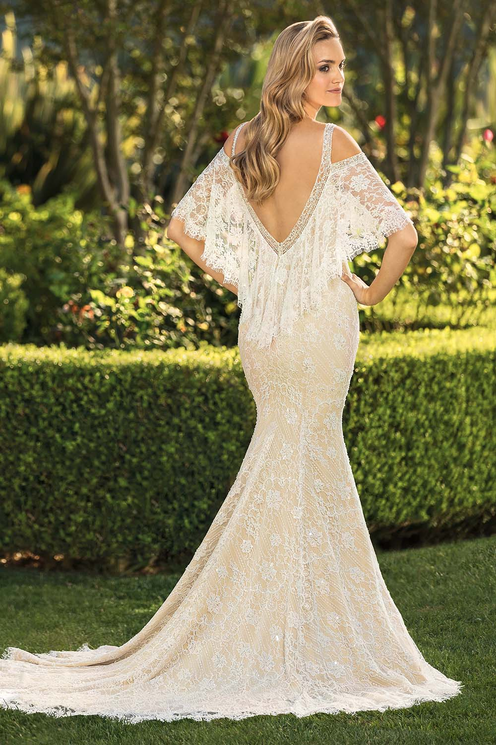 Style 2324 Perry | Casablanca Bridal Cold Shoulder Wedding Dress Bohemian