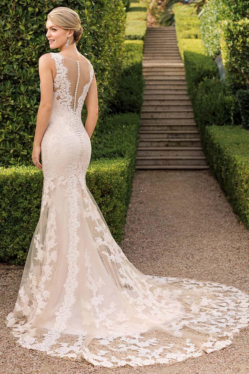 Modern Boho Lace Fit And Flare Wedding Dress Style 2343 Evelyn Blog Casablanca Bridal