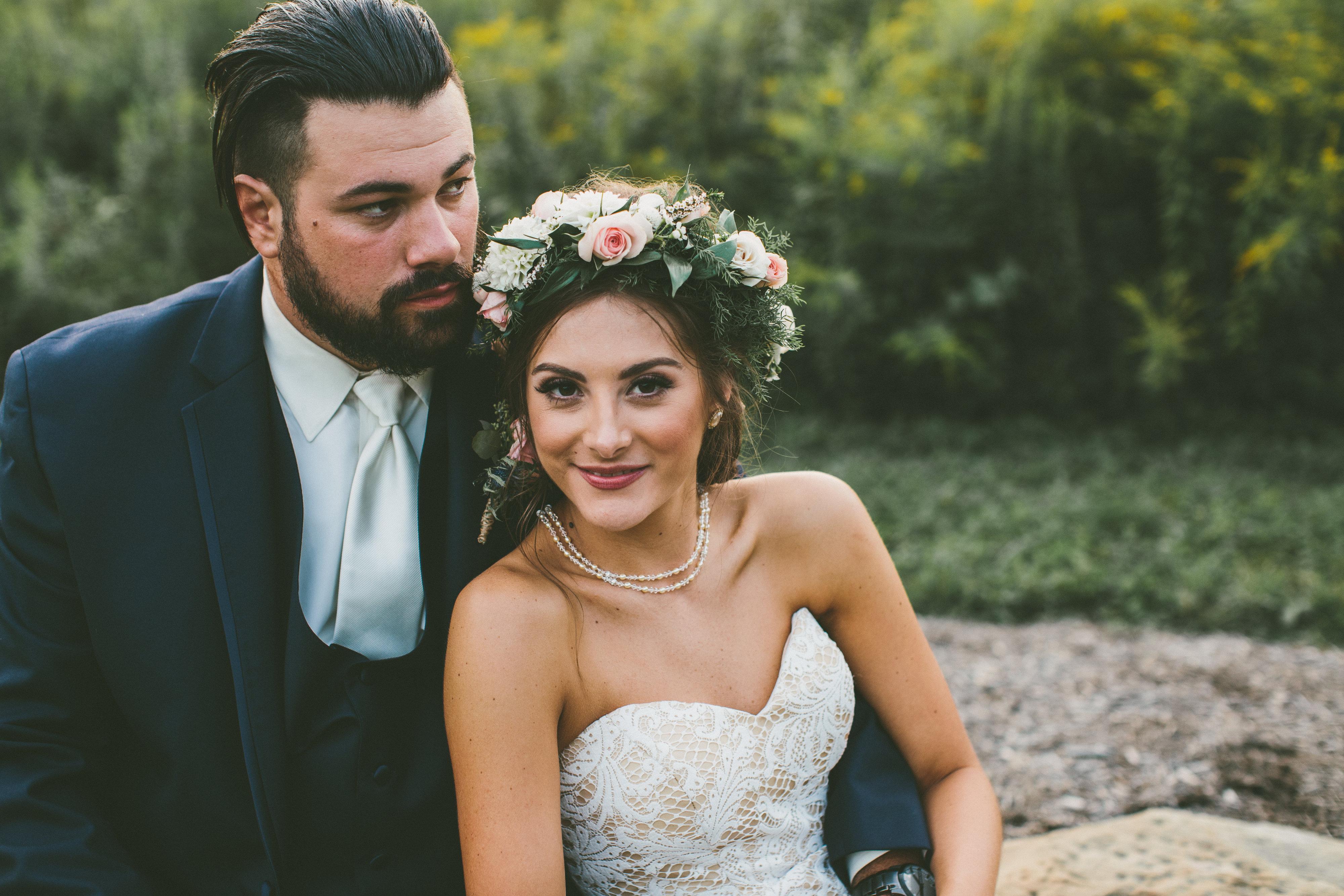 Bridal water lily 2226 wedding dresses photos brides com - Real Bride Boho Bride Casablanca Bridal Flower Crown Boho Wedding Casablanca Bridal