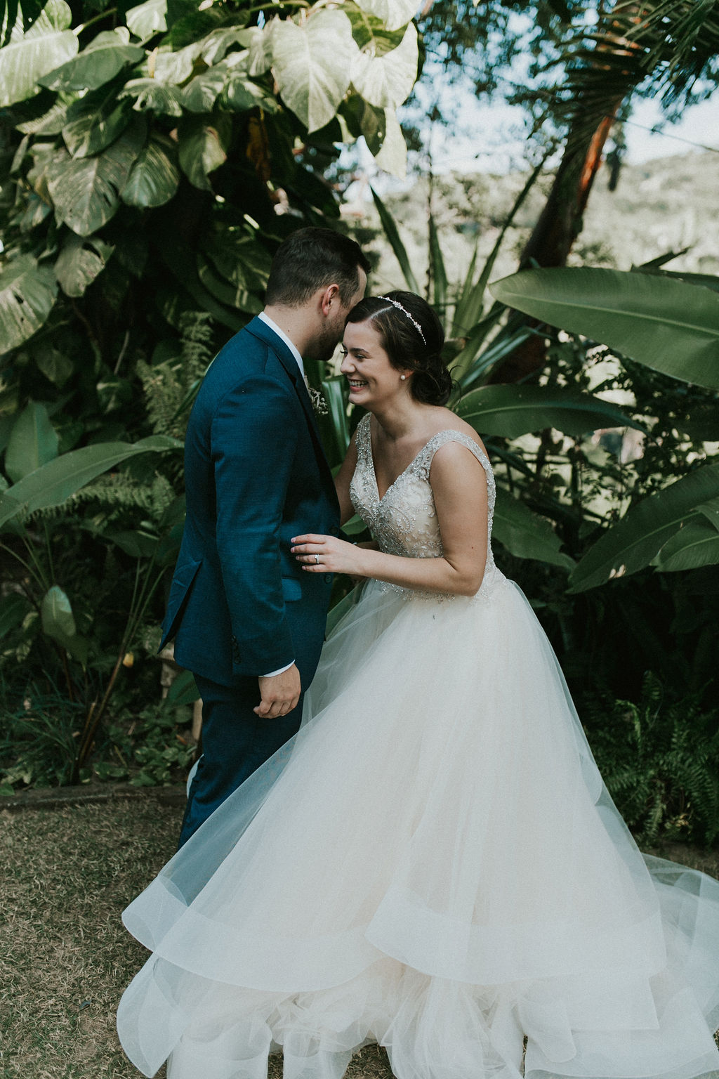 Casablanca Bridal Real Bride: Brigitta & Jeff's Mexico Wedding In Style 2315 | Layered Tulle Skirt Sparkling Ballgown Wedding Dress